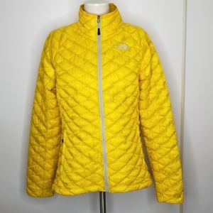 North Face Thermoball Insulated Yellow Jacket M